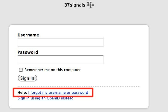 Basecamp Classic: One of my users can\u0027t login, what should they do?